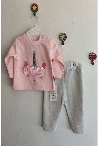 Minidoll Kız Bebek Unicorn Nakışlı Takım
