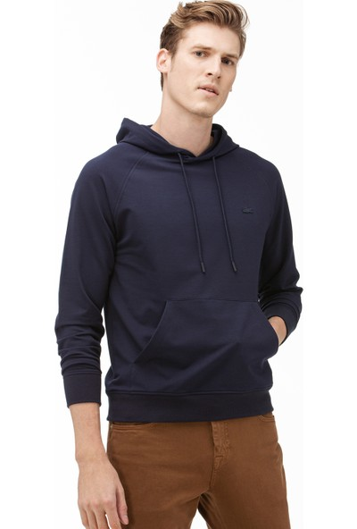 Lacoste Erkek Kapüşonlu Lacivert Sweatshirt SH2061 61L