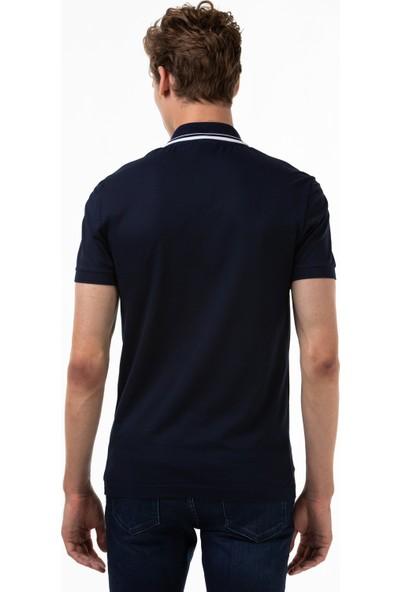 Lacoste Erkek Slim Fit Fermuarlı Yaka Lacivert Polo PH0053 53L
