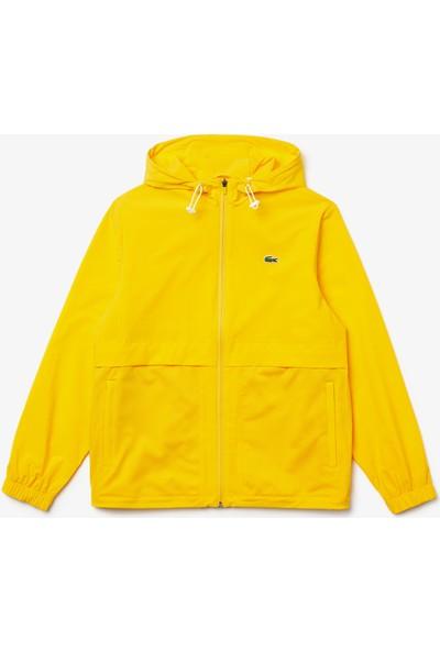 Lacoste Sport Erkek Kapüşonlu Sarı Rüzgarlık BH1533 C9S