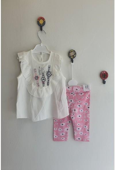 Minidoll Kız Bebek Çiçekli Ikili Takım