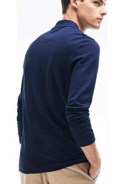 Lacoste Erkek Slim Fit Uzun Kollu Lacivert Polo PH4013.166