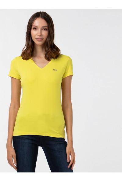 Lacoste Dámské Tričko S Výstřihem Do V TF0999 J5D