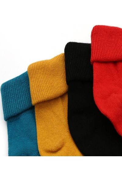 Ciorap 4'lü Bebek Kıvrık Çorap 85031-B4