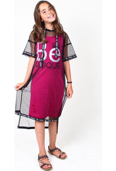 Marions Tül Detaylı 8-14 Yaş Elbise