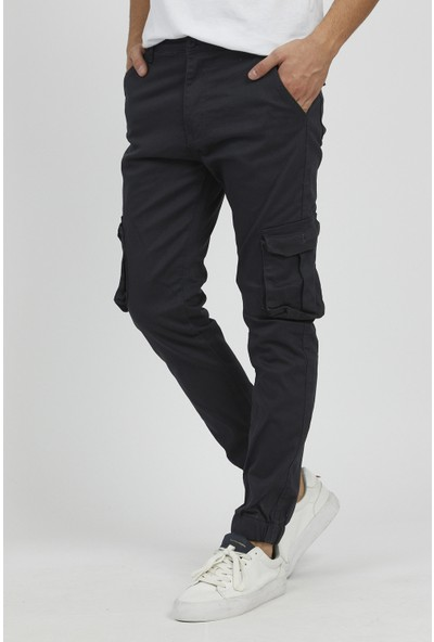 Serseri Jeans Erkek Körüklü Füme Antrasit Renk Jogger Paçası Lastikli Pantolon
