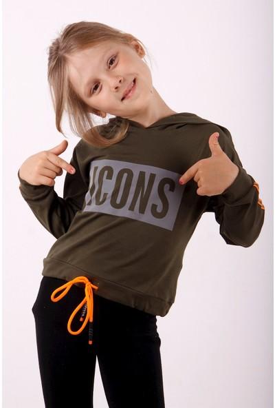 Toontoy Kız Çocuk Icons Baskılı Sweatshirt