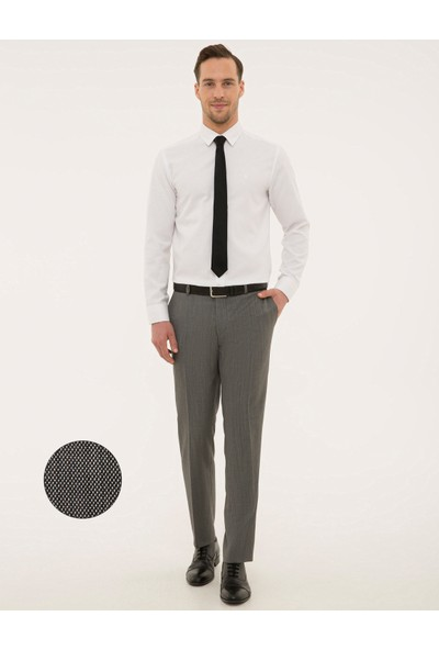 Pierre Cardin Gri Slim Fit Pantolon 50177258-VR024