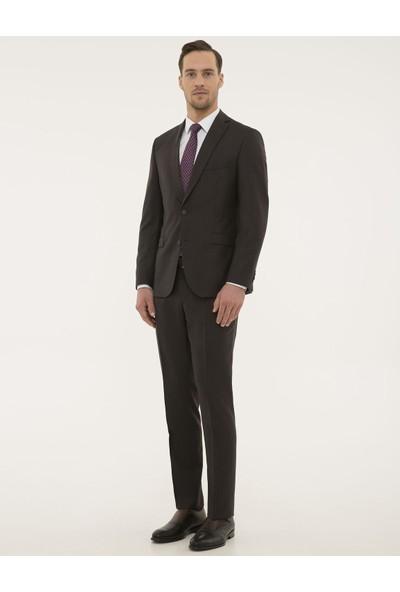 Pierre Cardin Kahverengi Slim Fit Takım Elbise 50193999-VR029