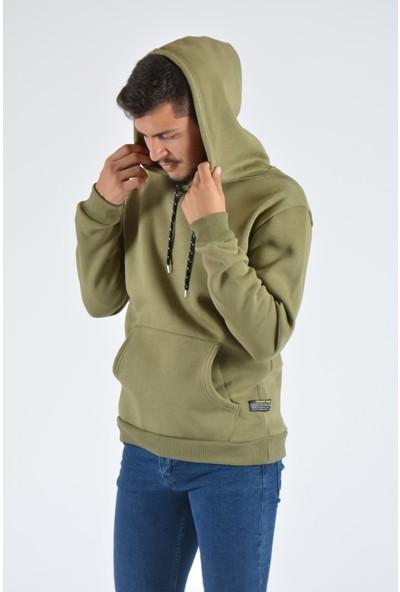 Terapi Men Erkek Kapüşonlu Sweatshirt 20Y-5200317 Haki