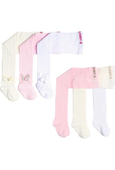 Ilbaş 6'lı Set Pamuklu Külotlu Bebe Çorap Düz-Aksesuarlı