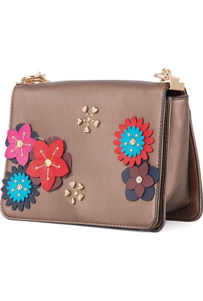 Dsn Kadın Çiçek Motifli Kadın Kol Çantası B28375
