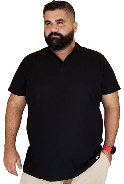 Xanimal Büyük Beden Erkek T-Shirt Polo Yaka Cepsiz Spor 3xl 4xl 5xl 6xl 7xl