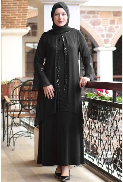 Fahima Esila Abiye Siyah Fhm638
