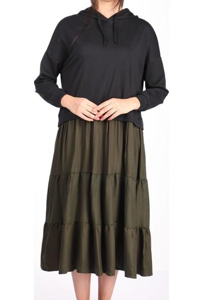 Markapia Kapüşonlu Sweatshirt Siyah Standart