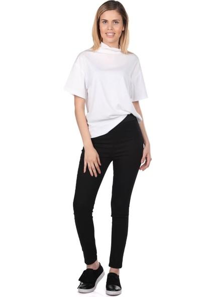 Blue White Kadın Siyah Tayt Pantolon