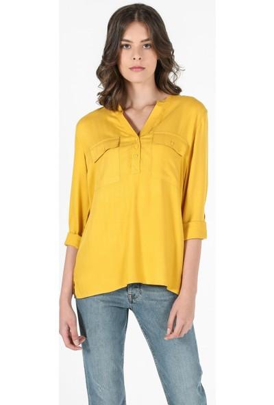 Colin's Sarı Kadın Uzun Kollu Gömlek