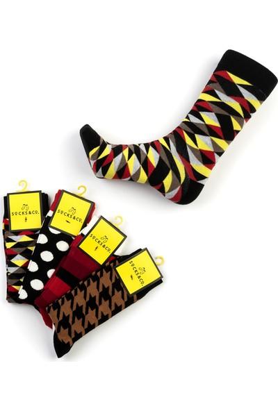 Socks&Co 4'Lü Yetişkin Erkek Çorap Sc0013