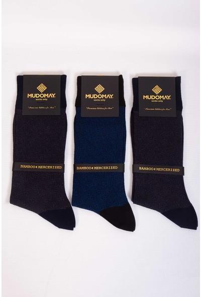 Mudomay 6'lı Bambu Merserize Erkek Çorap