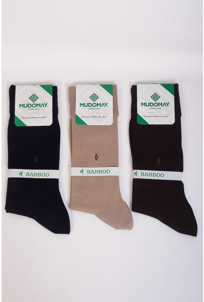 Mudomay 6'lı Bambu Erkek Çorap