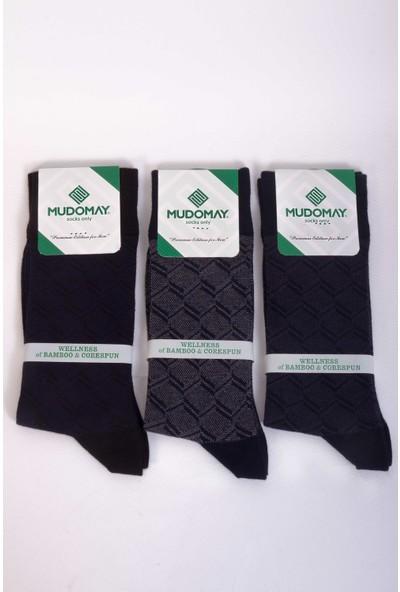 Mudomay Bambu Corespun Mevsimlik Erkek Çorap - 6 Adet