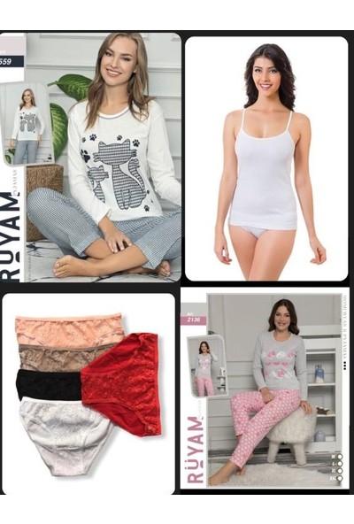 Kadın Pijama Takımı ve Atlet Külot Takımı
