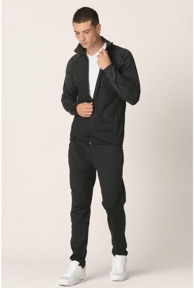 Mascarano Siyah Dalgıç Kumaş Erkek Eşofman Takımı