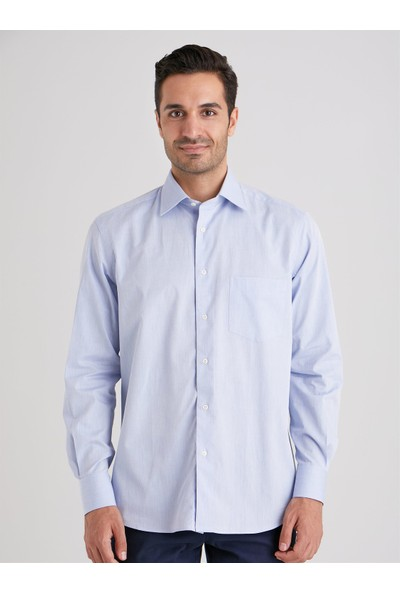 Dufy K.Mavi Armür Erkek Gömlek Regular Fit
