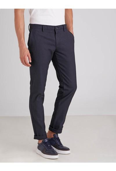 Dufy Lacivert Armür Erkek Pantolon Regular Fit