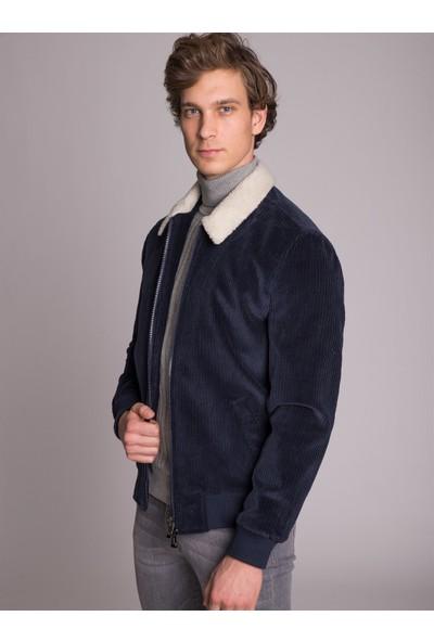 Dufy Lacivert Düz Erkek Dış Giyim