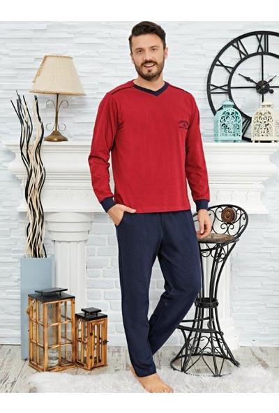 Çelebi 817 Erkek Kışlık Süprem V-Yaka Pijama Takım