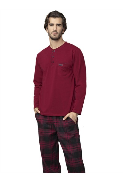 Kly 7003 Erkek Kışlık Pazen Pijama Takım