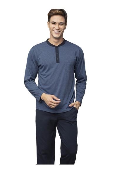 Kly 7407 Erkek Kışlık Büyük Beden Pijama Takım