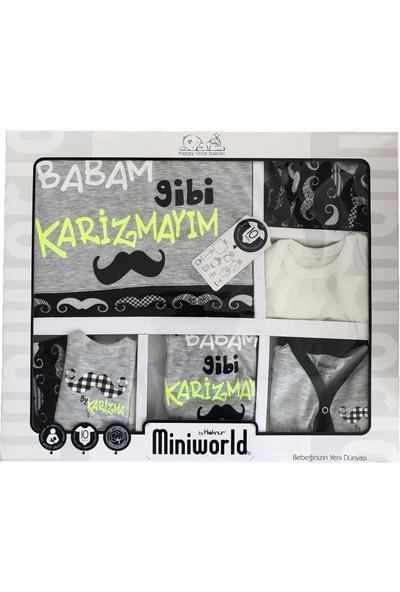 Miniworld Erkek Bebek Gri Hastane Çıkışı-Yenidoğan 10 Lu Takım
