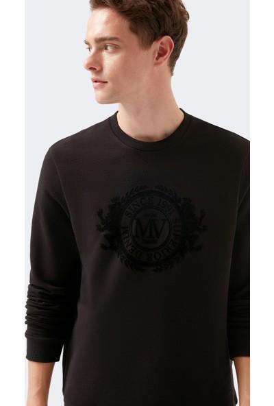 Mavi Erkek Mavi Baskılı Siyah Sweatshirt 066521-900