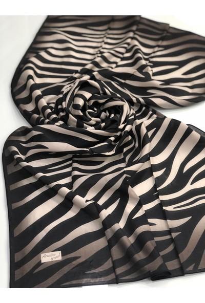 Armine Zebra Desen Modal ŞAL-V01