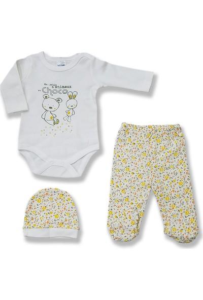 Fuar Bebe 3'lü Kız Bebek Zıbın Takımı