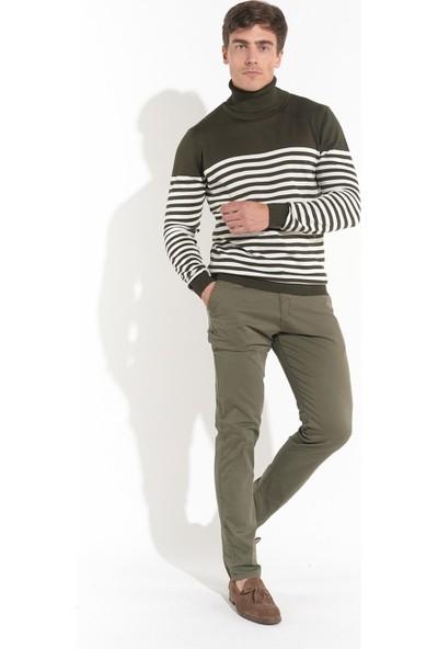 Z Giyim Erkek Haki Slimfit Keten Pantolon
