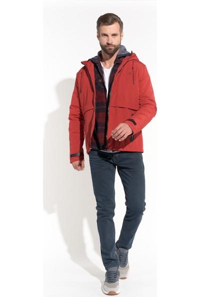 Z Giyim Erkek Kırmızı Su Ve Rüzgar Geçirmez Softshell Mont
