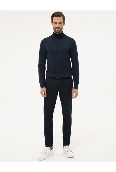 Pierre Cardin Erkek Lacivert Slim Fit Yarım Balıkçı Yaka Basic Triko Kazak 50230785-VR033