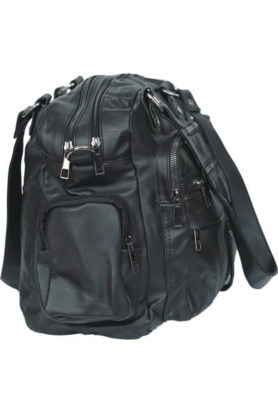 Kurtuluş Çanta - Çok Cepli Kadın Kol Çantası Siyah