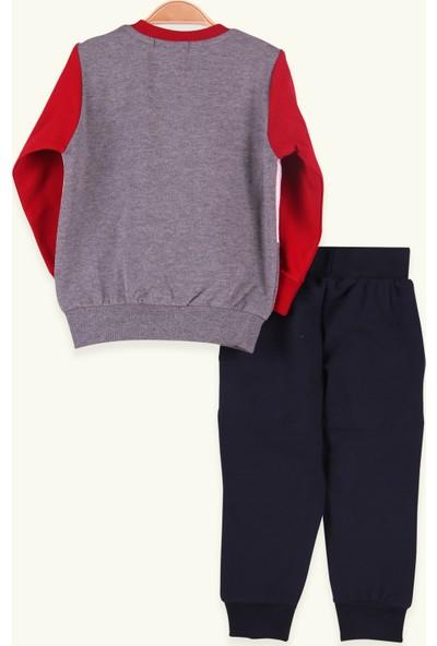 Breeze Erkek Çocuk Eşofman Takımı Baskılı Kırmızı (1.5-5 Yaş)