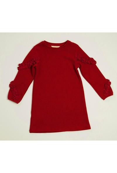 Wonder Kids Bordo Kız Çocuk Elbise MK20AW7055