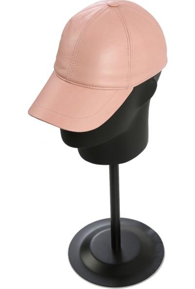 Enzio Gizzi Sedefli Pembe Deri Şapka