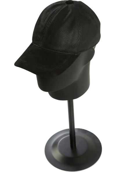 Enzio Gizzi Punto Baskı Deri Şapka