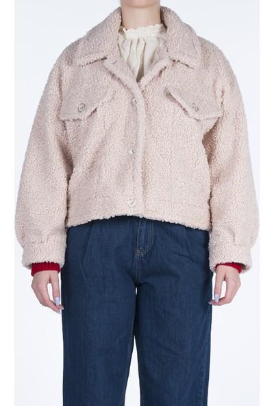 Markosin Lohar - Kadın Suni Kürk Peluş Teddy Ceket TED1019
