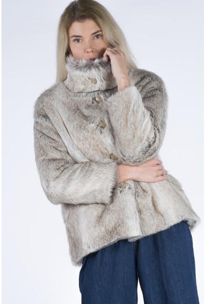 Markosin Southern Alaska - Kadın Suni Kürk Peluş Kaban 1021KKG