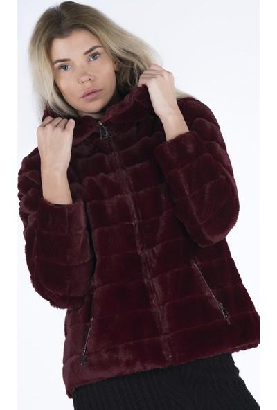 Markosin Petunya Toscana - Kadın Suni Kürk Peluş Ceket TOS1010JK