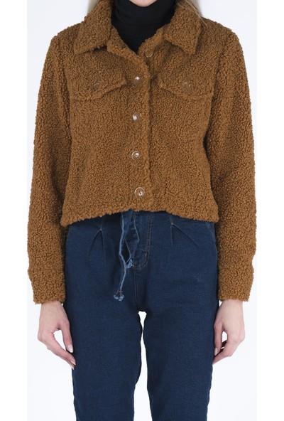Markosin Melbourne - Kadın Suni Kürk Peluş Teddy Ceket TED1013M