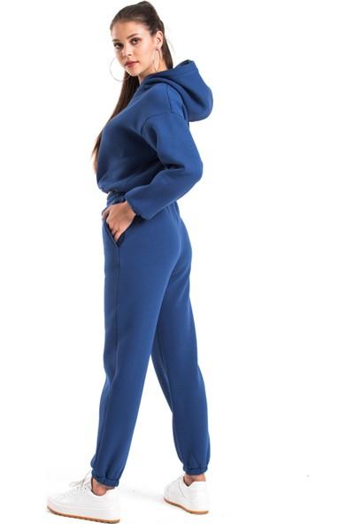 Caya Kadın Indigo Mavi Yüksek Bel Jogger Eşofman Takımı CY84185 XS
